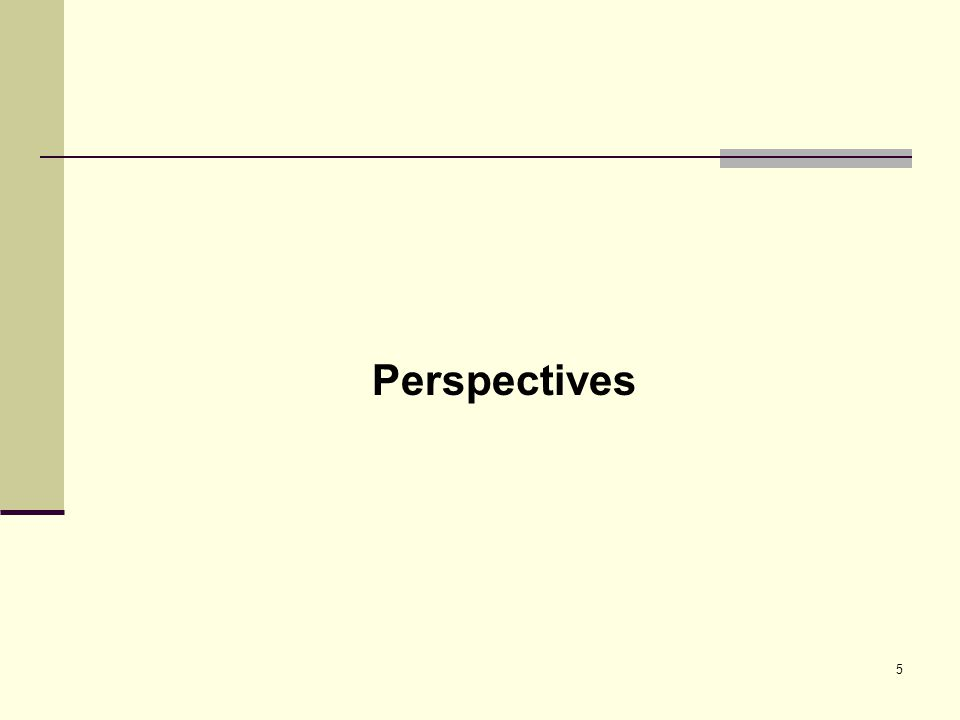 5 Perspectives