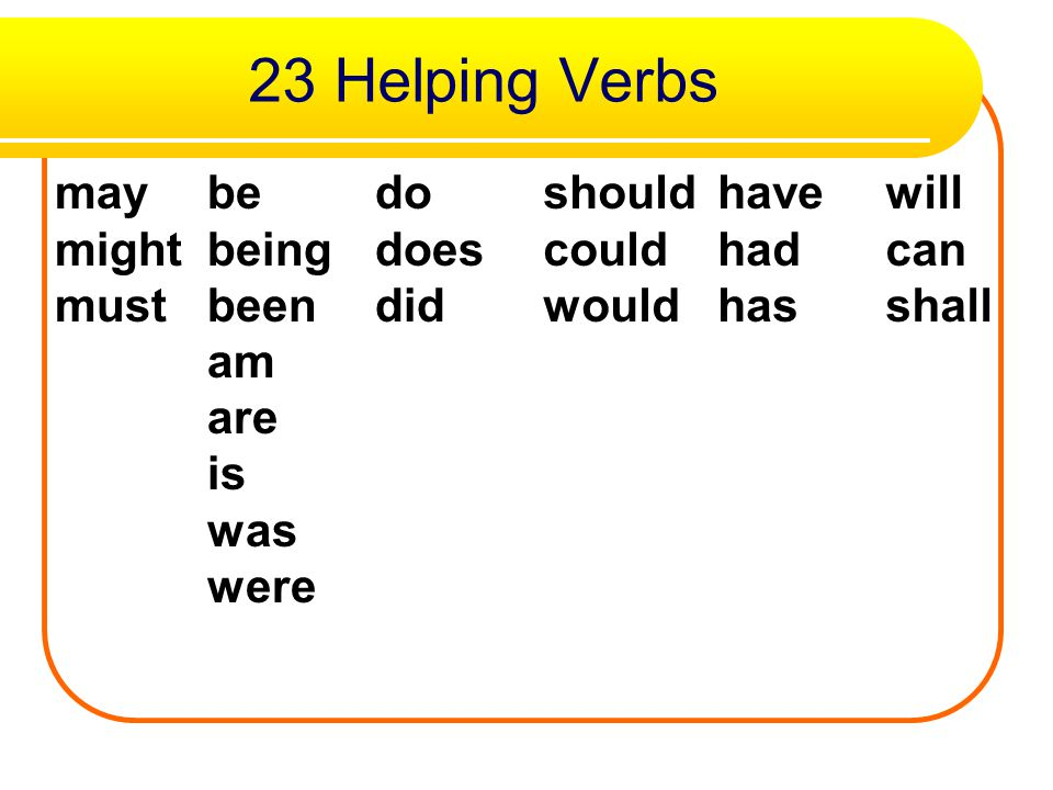 So what's the moral? Maybe Mr. Do should have a will. Just remember this sentence and you will know how to set up a chart of the 23 helping verbs! The