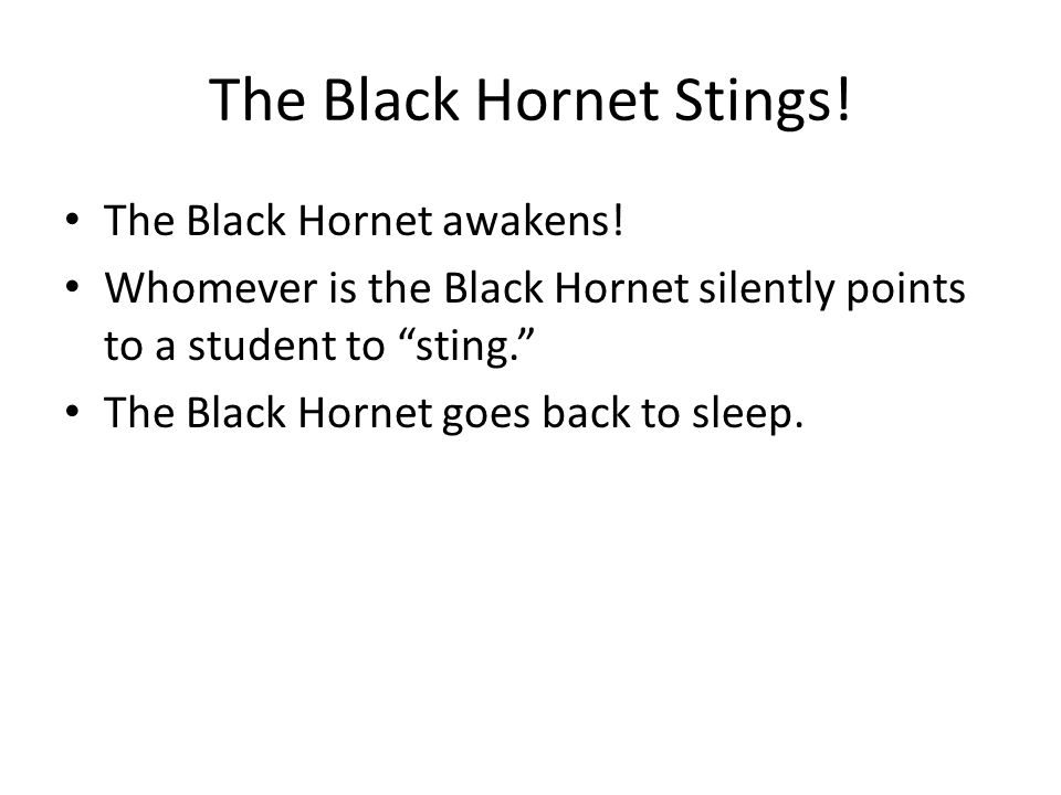 The Black Hornet Stings. The Black Hornet awakens.