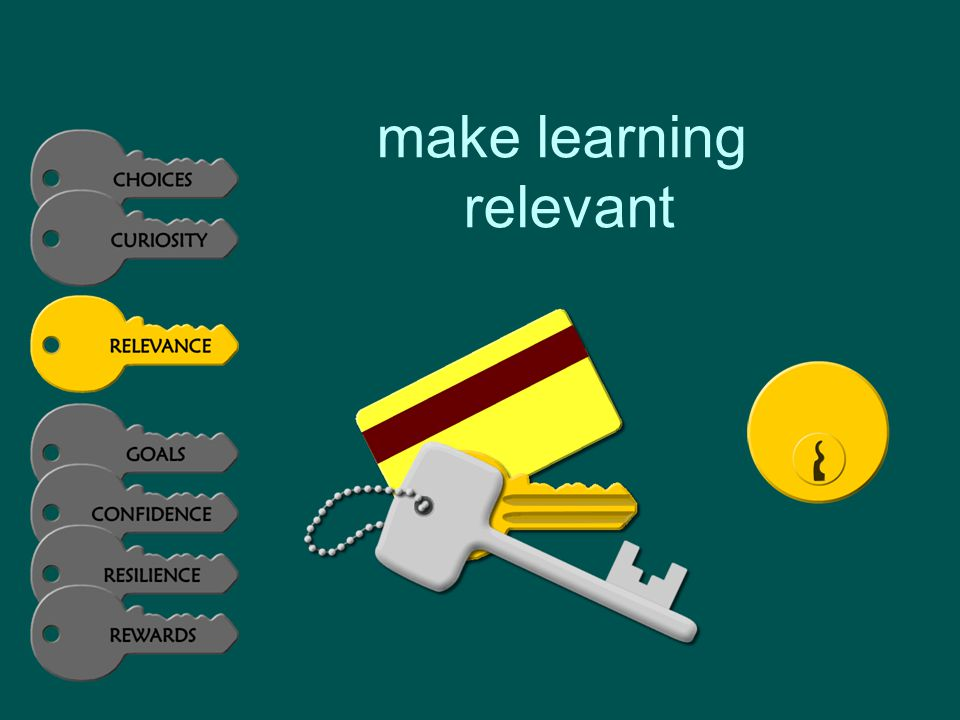 make learning relevant
