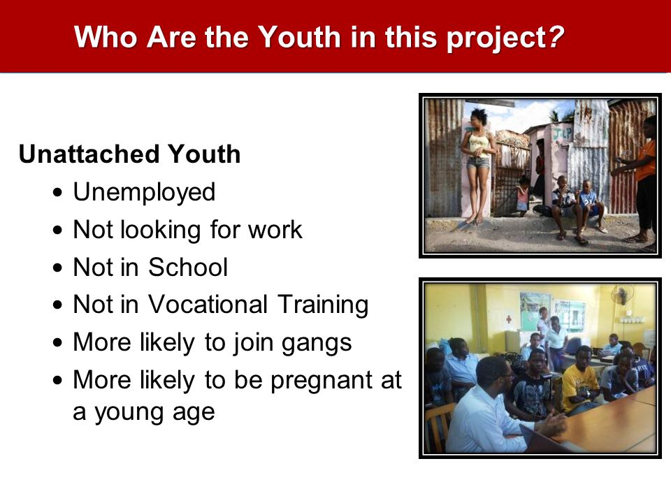Who Are the Youth in this project.