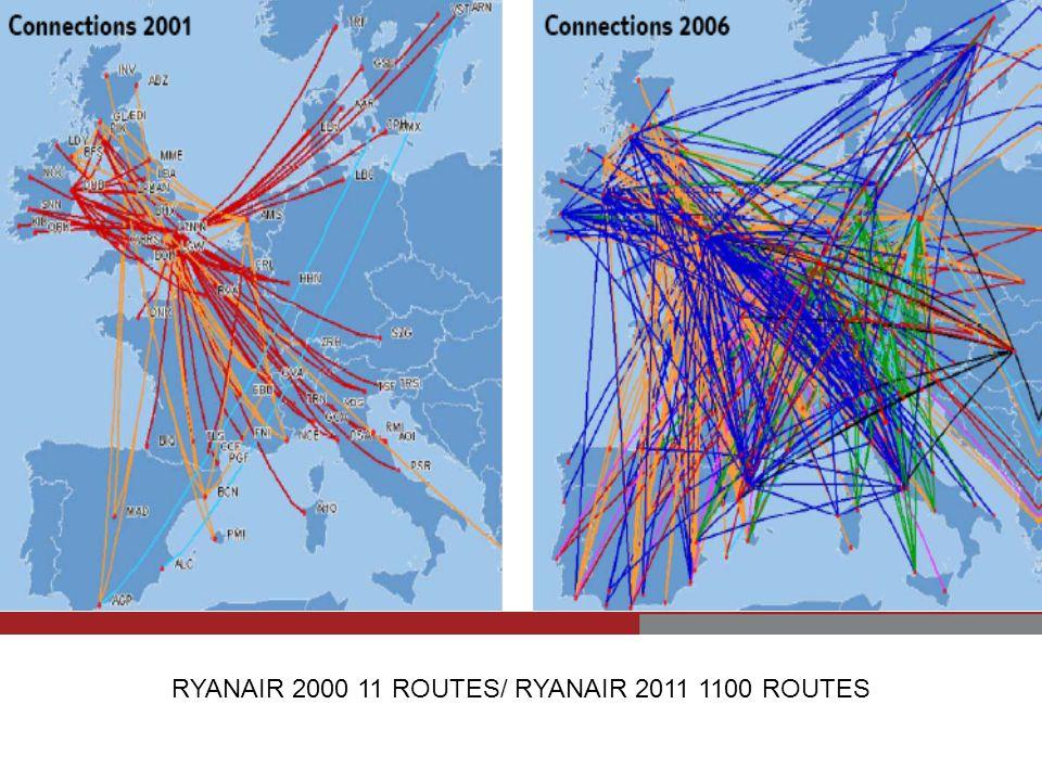 RYANAIR 2000 11 ROUTES/ RYANAIR 2011 1100 ROUTES