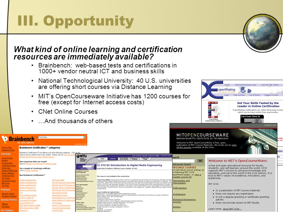 What kind of online learning and certification resources are immediately available.