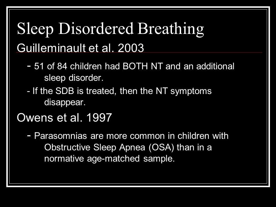 Sleep Disordered Breathing Guilleminault et al.