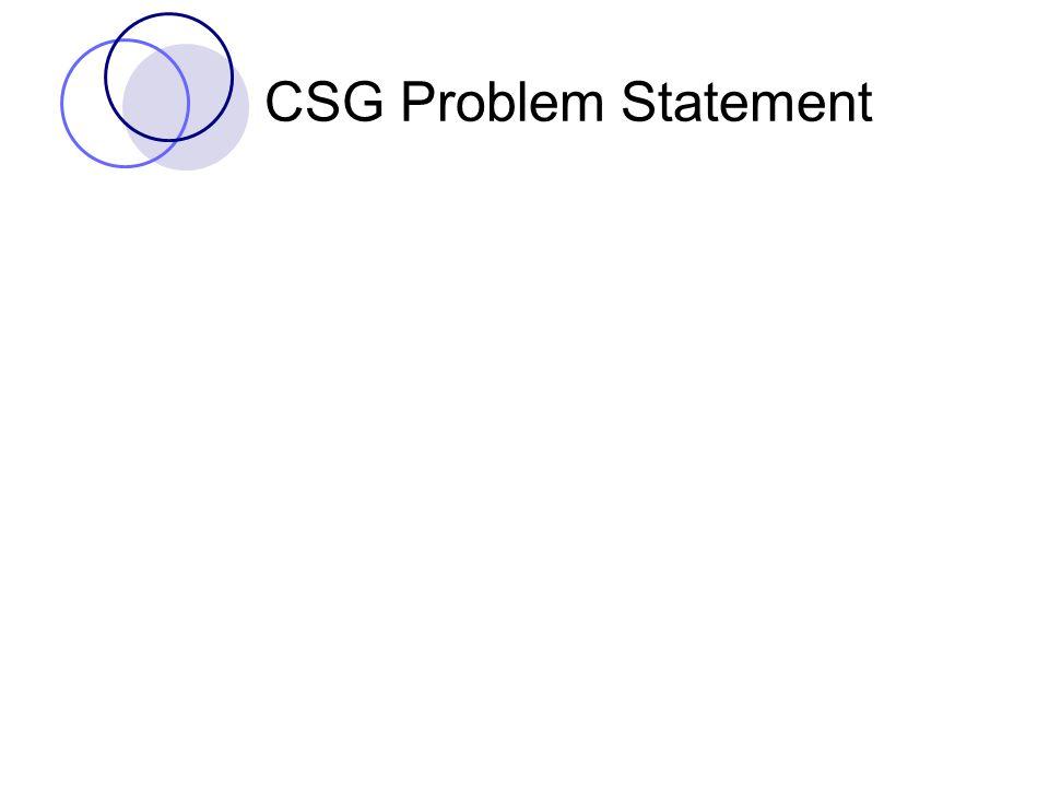 CSG Problem Statement