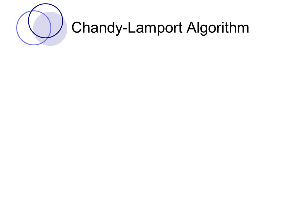 Chandy-Lamport Algorithm