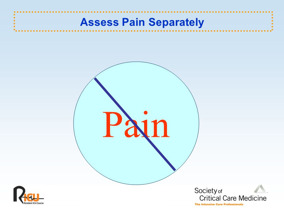 Pain Assess Pain Separately
