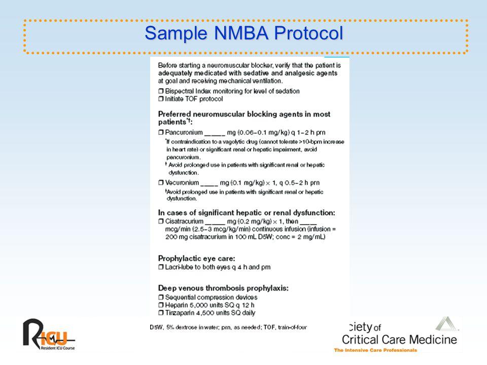 Sample NMBA Protocol