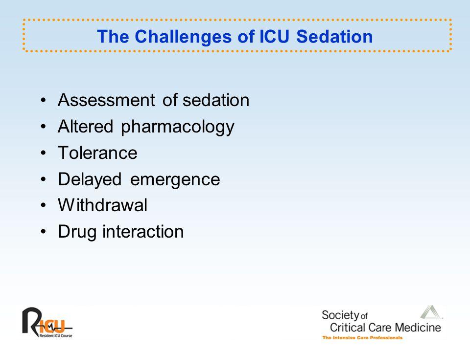 Sedation Sedatives Causes for Agitation