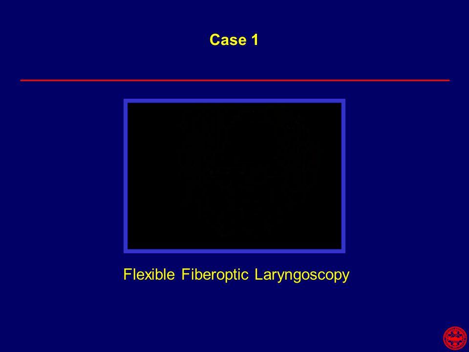 Flexible Fiberoptic Laryngoscopy Case 1