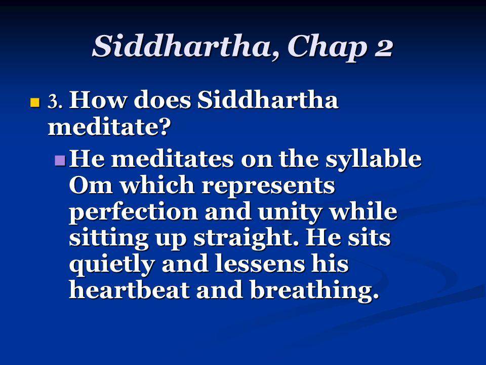 Siddhartha, Chap 2 3. How does Siddhartha meditate.