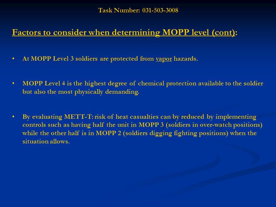 Task Number: 031-503-3008 Performance Steps: (cont.) 2.