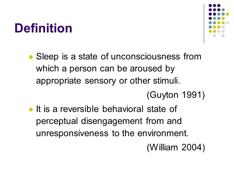 History of chronic illnesses and physical conditions that may disturb sleep.