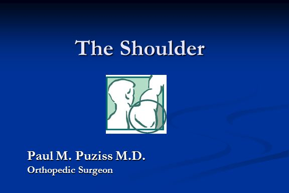 The Shoulder Paul M. Puziss M.D. Orthopedic Surgeon