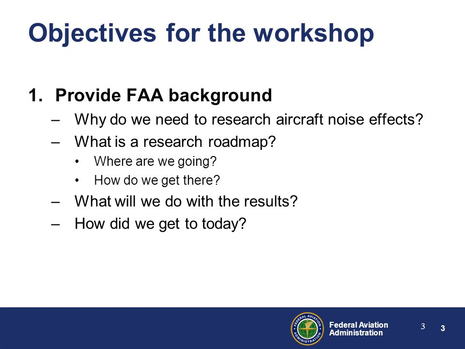 44 Federal Aviation Administration 44 Sleep Research Roadmap Questions / comments?