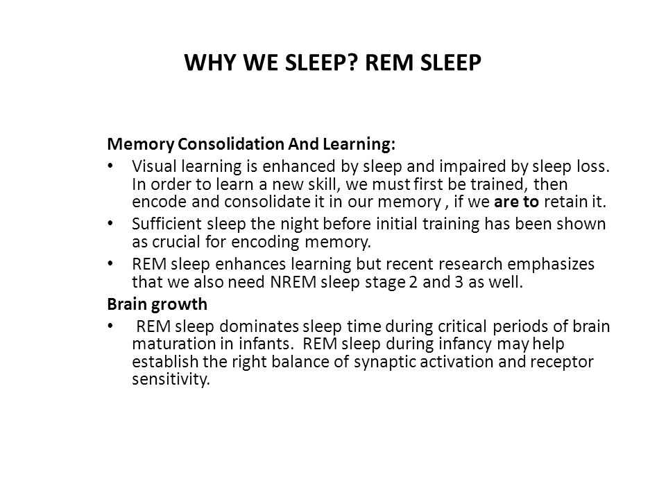 WHY WE SLEEP.