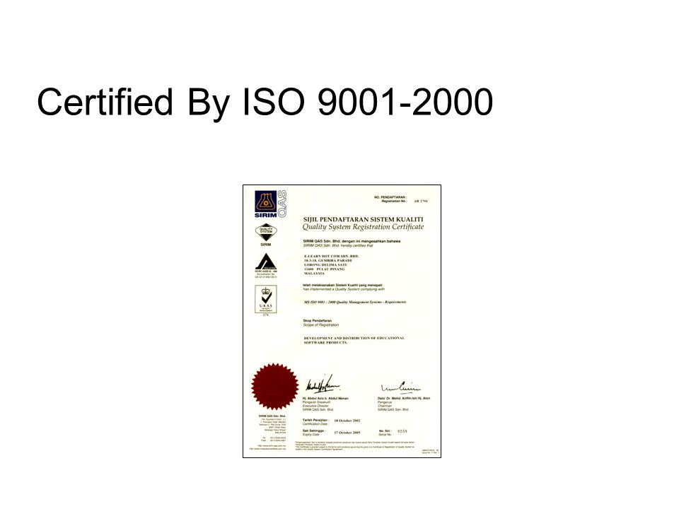 Certified By ISO 9001-2000