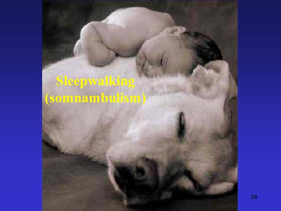 39 Sleepwalking (somnambulism)