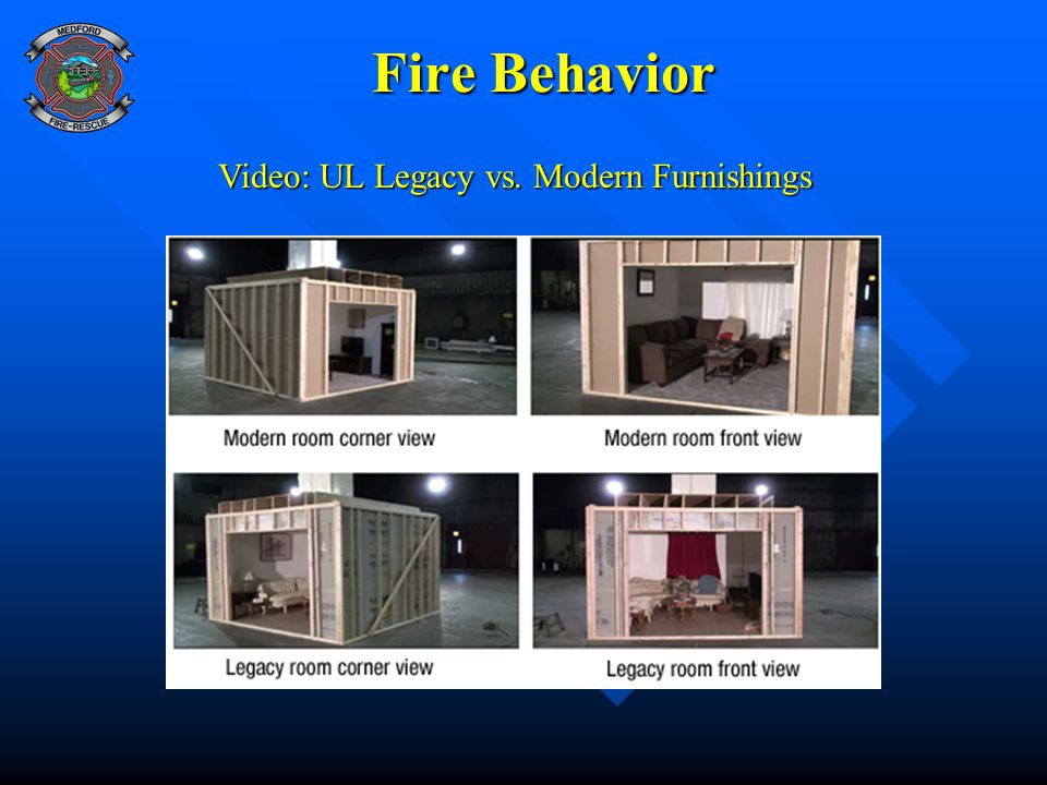 Fire Behavior Fire Behavior Video: UL Legacy vs. Modern Furnishings