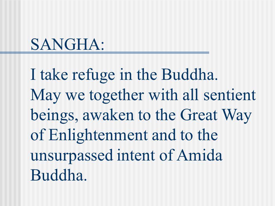 SANGHA: I take refuge in the Dharma.