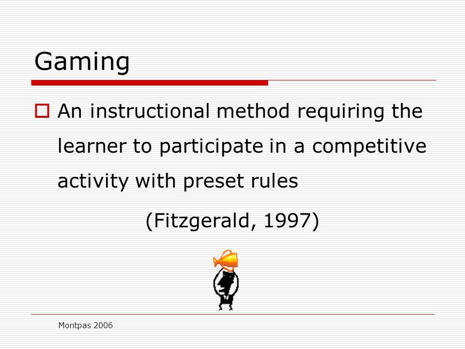 Montpas 2006 Educational Gaming