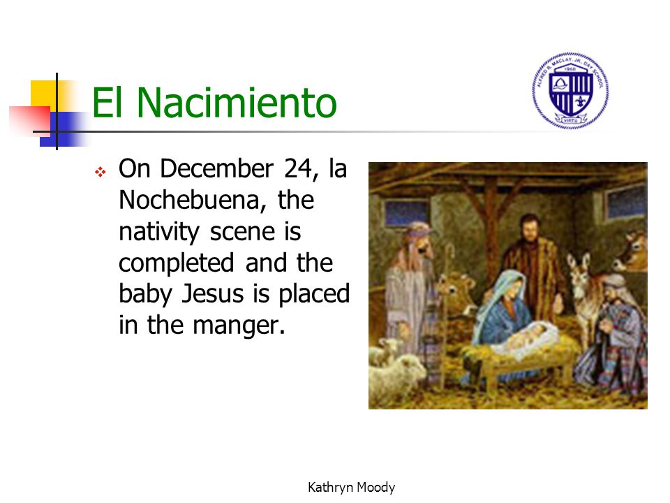 Kathryn Moody La Noche Buena The Posadas end on the 24 th (La Nochebuena). Everyone goes to mass at midnight (La Misa del Gallo). Families gather and