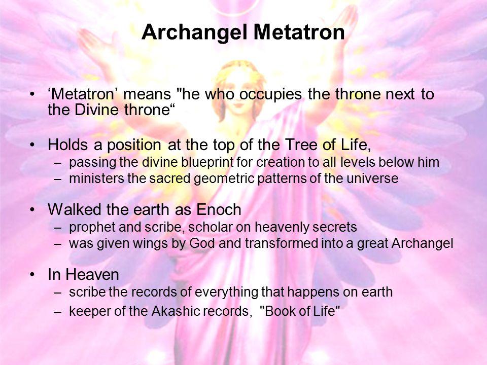 Archangel Metatron 'Metatron' means