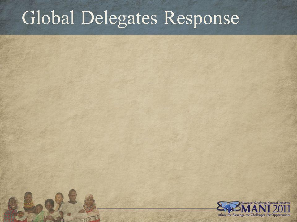 Global Delegates Response