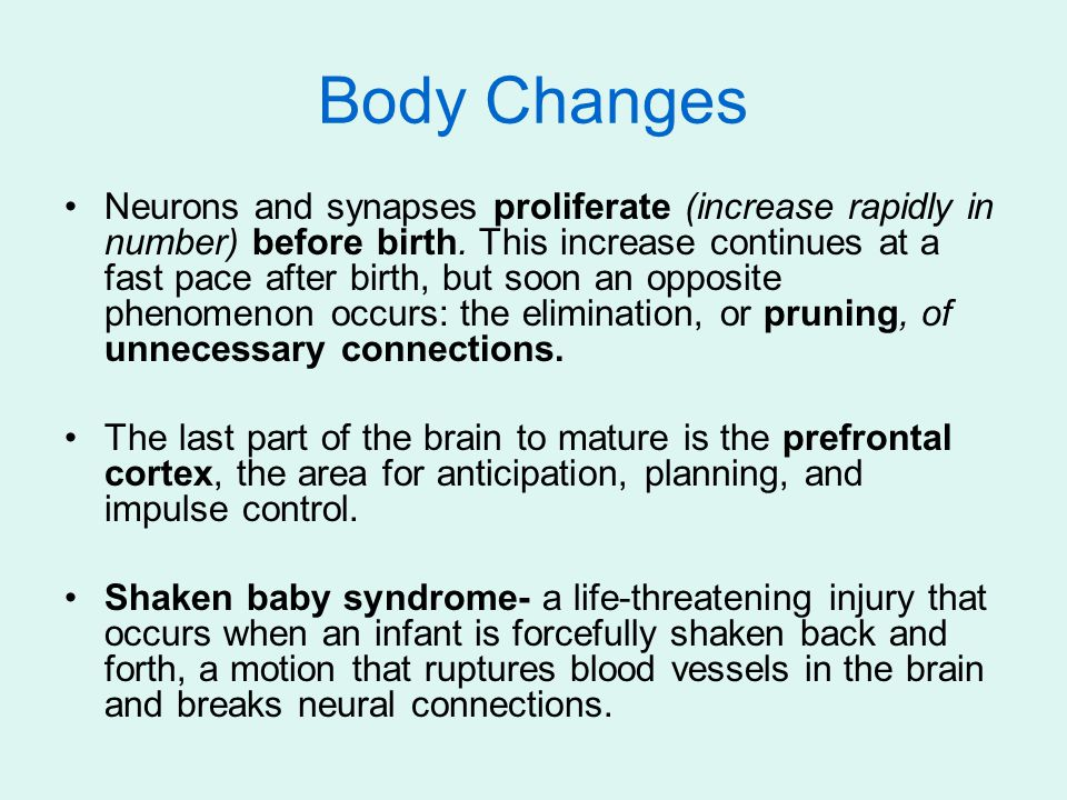 Neurons and synapses proliferate (increase rapidly in number) before birth.