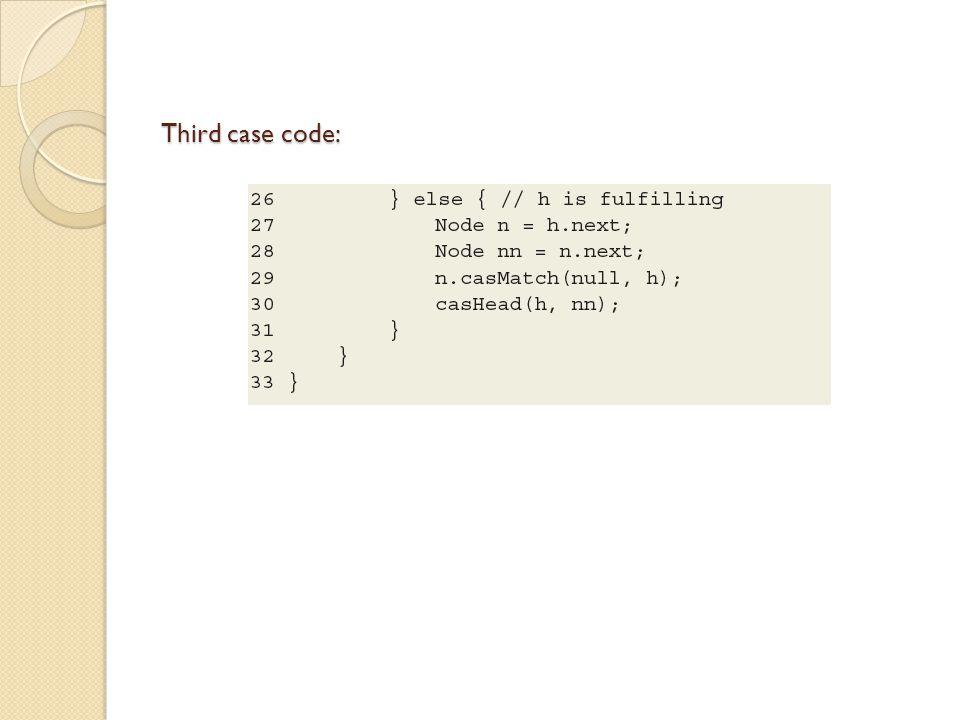 Third case code: