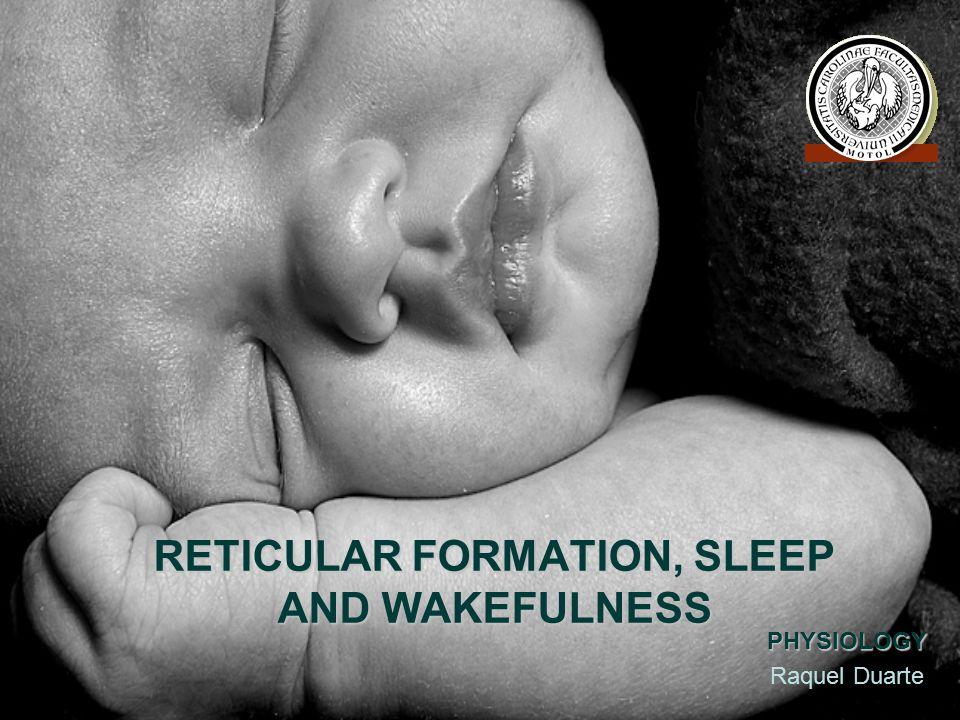 RETICULAR FORMATION, SLEEP AND WAKEFULNESS PHYSIOLOGY Raquel Duarte