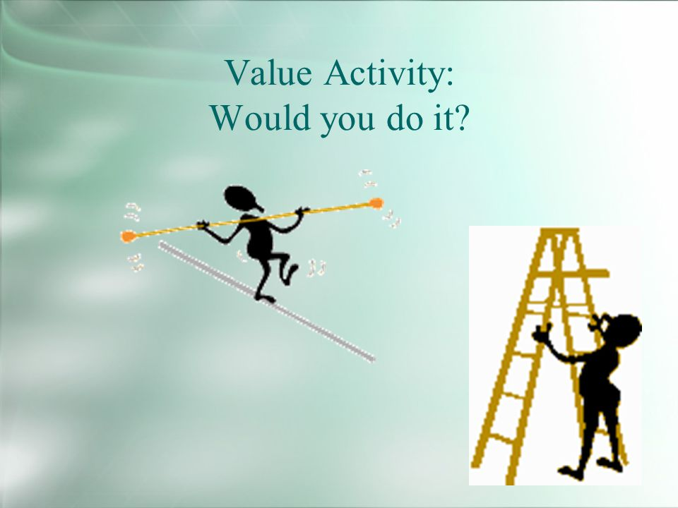 Value Activity: Would you do it?