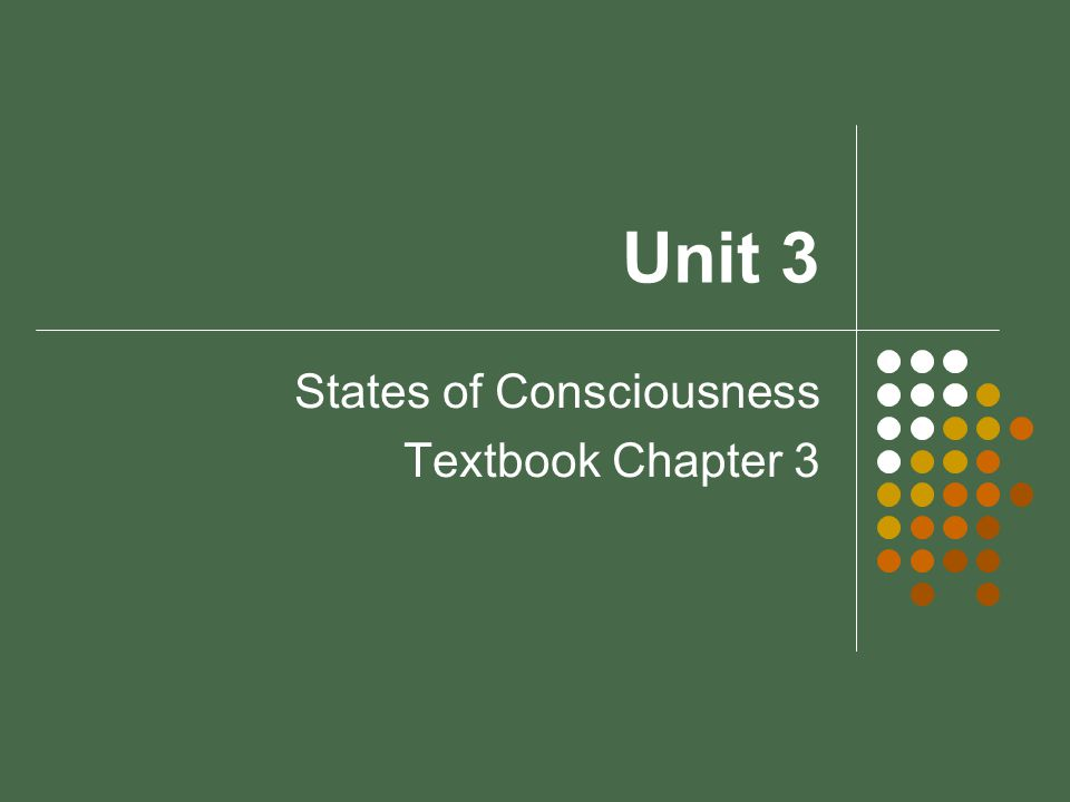 Unit 3 States of Consciousness Textbook Chapter 3