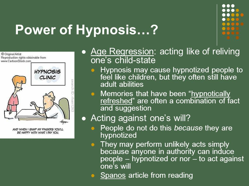 Power of Hypnosis….