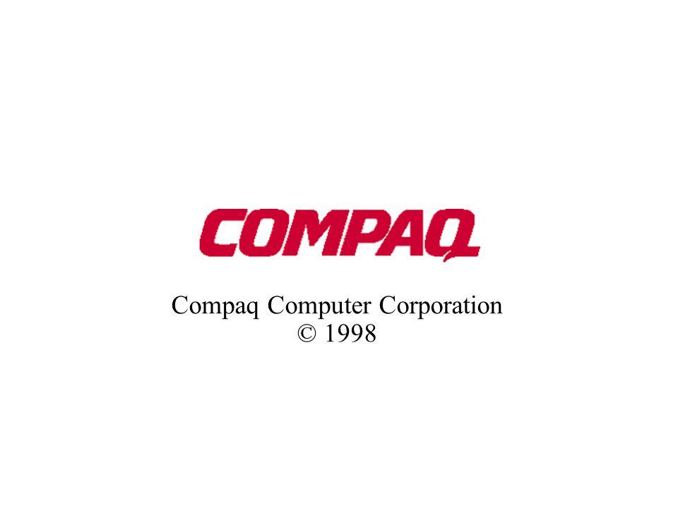 Compaq Computer Corporation © 1998