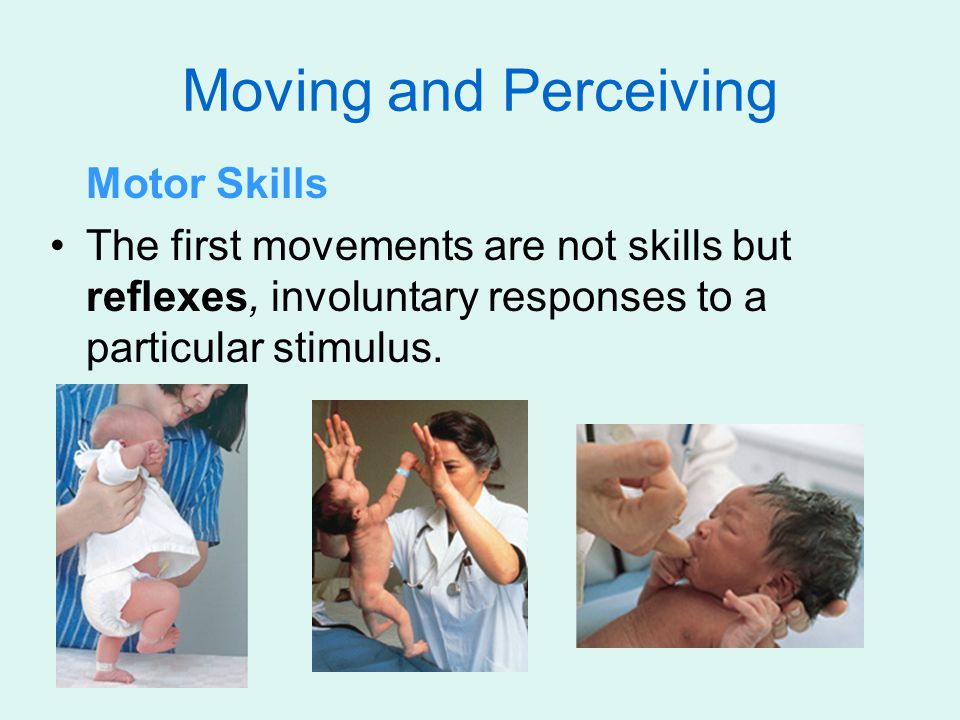 Moving and Perceiving Motor Skills The first movements are not skills but reflexes, involuntary responses to a particular stimulus.