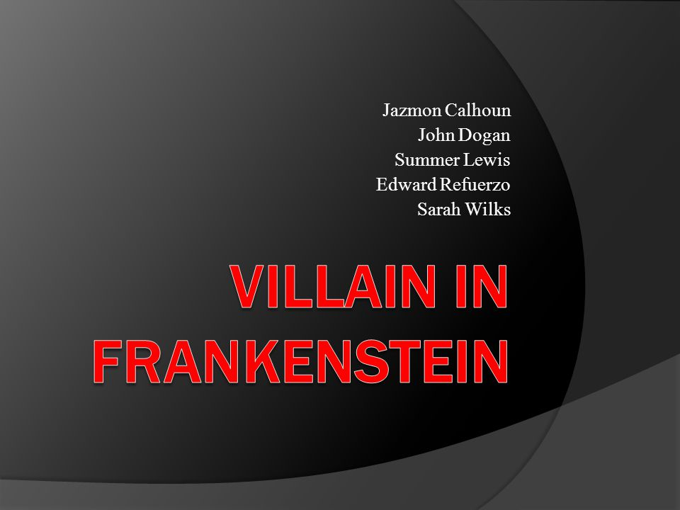 Prompt From a novel or play with literary merit, select an important character who is a villain.
