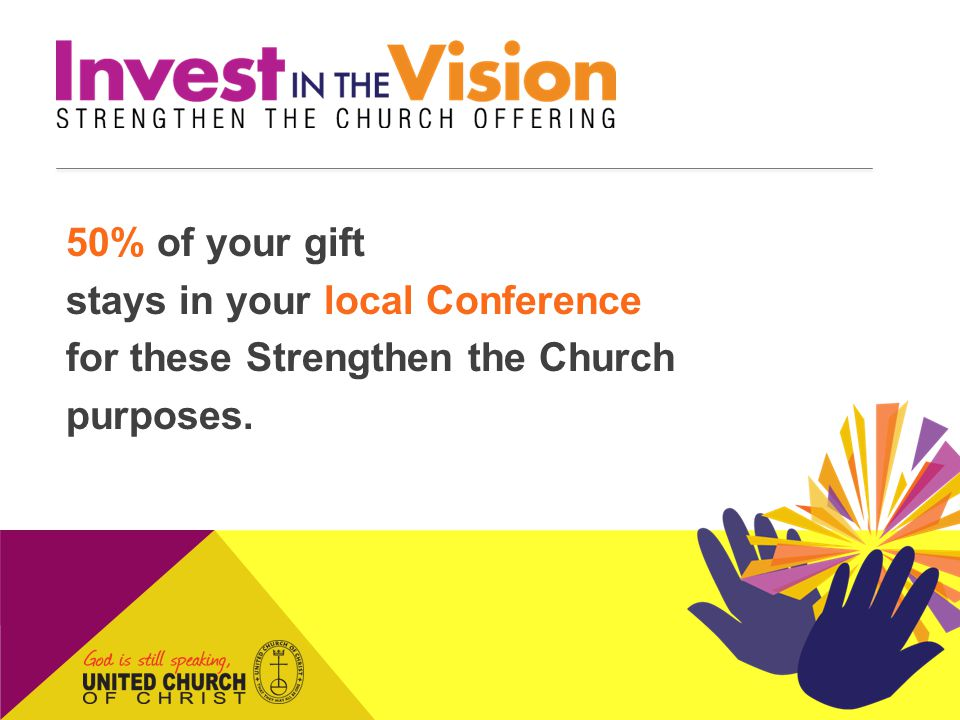 THANK YOU for supporting Strengthen the Church!