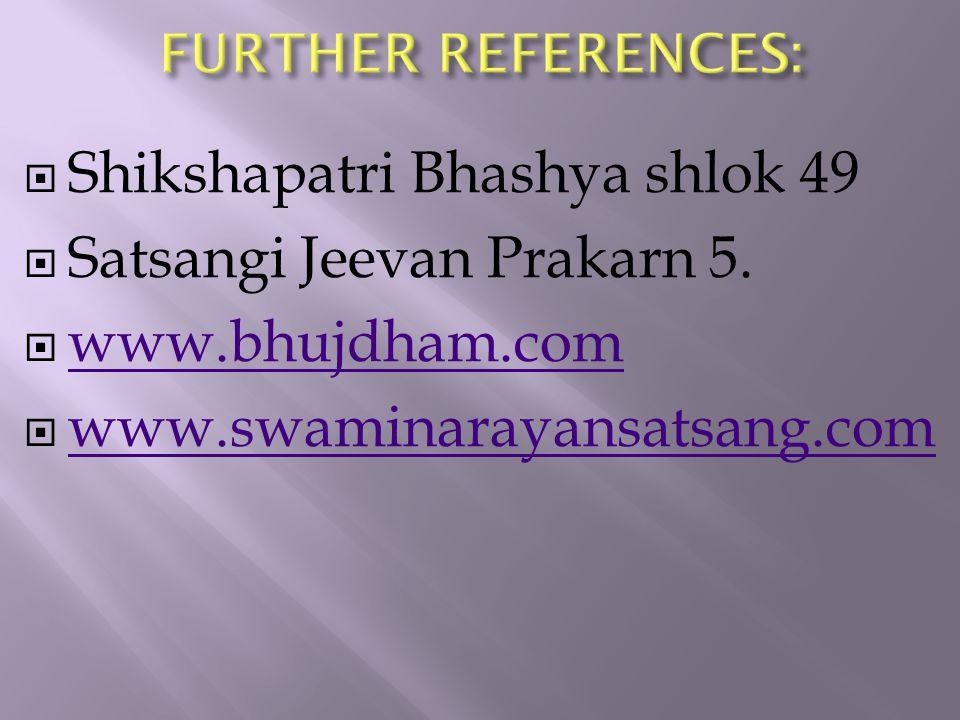  Shikshapatri Bhashya shlok 49  Satsangi Jeevan Prakarn 5.