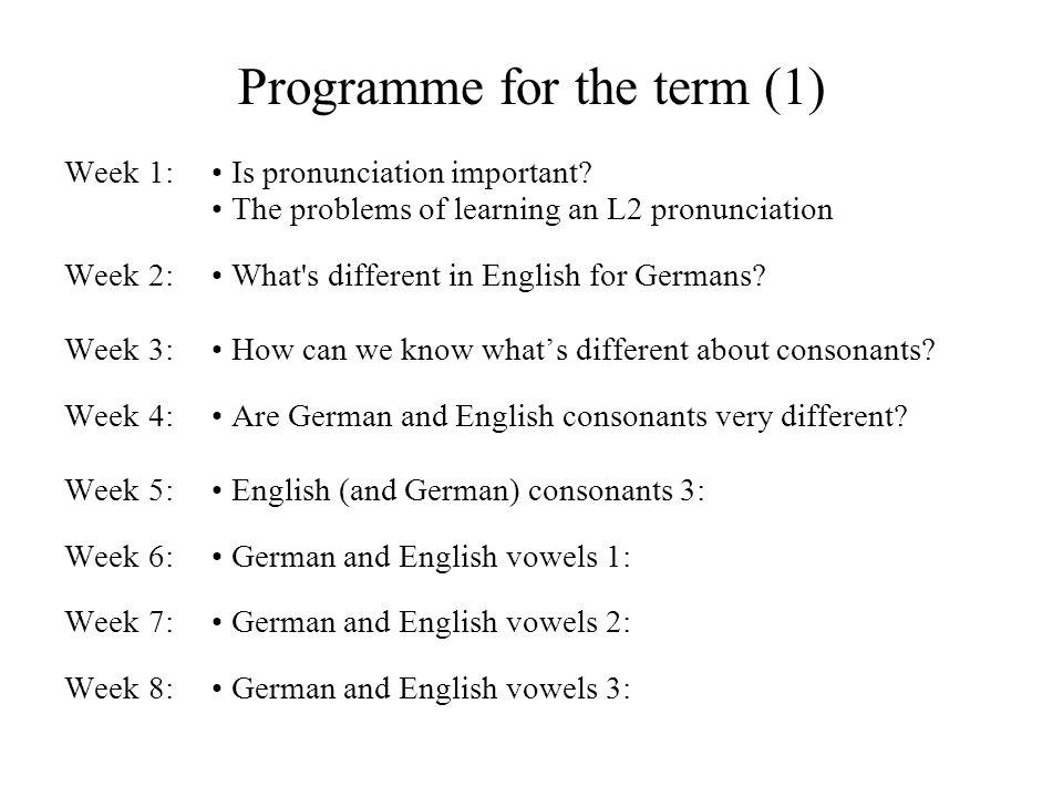 The Phonetics of English Pronunciation W.Barry Institut für Phonetik Universität des Saarlandes IPUS Version April 2008