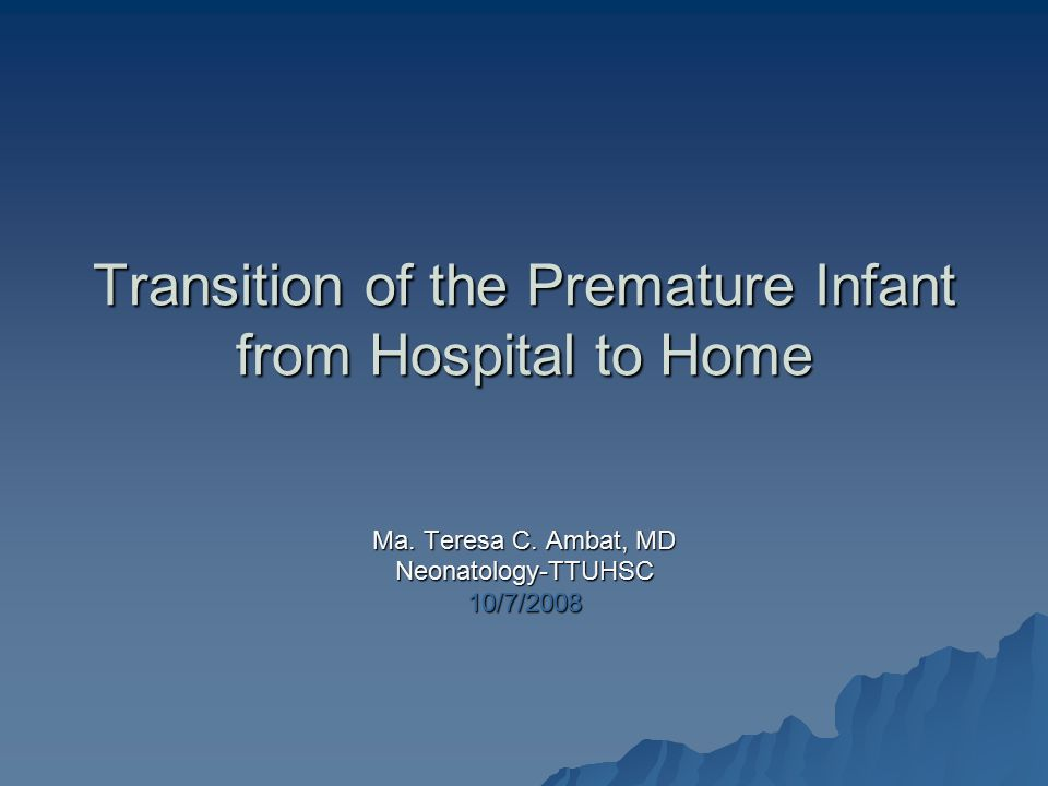 Introduction  PCPs are taking care of a growing population of former premature infants  PCPs should understand the special difficulties facing these infants and their families  PCPs should understand how to follow problems identified in the NICU and be attentive to new issues that may develop