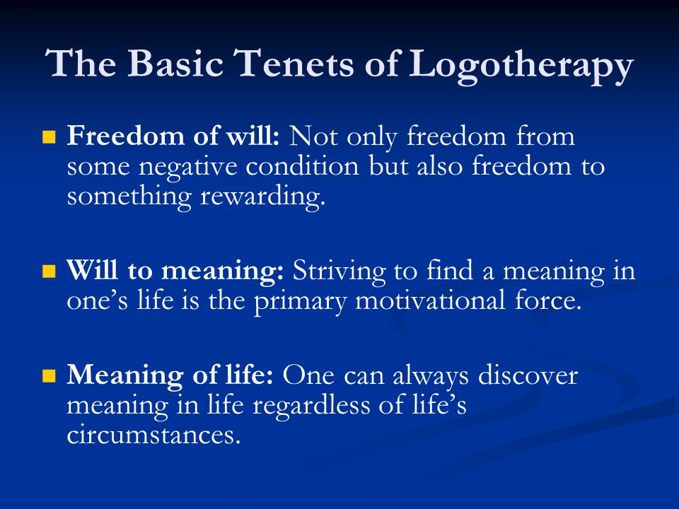 Freedom of will: Not only freedom from some negative condition but also freedom to something rewarding.