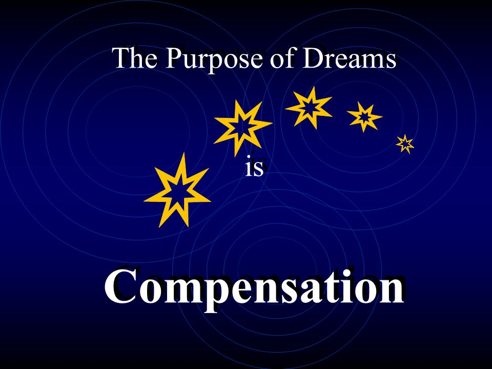 The Purpose of Dreams is Compensation