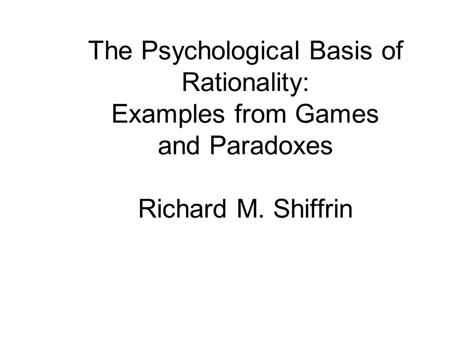 Thus the exchange paradox reveals yet another facet of the general claim that rationality is a cognitive process, subject to reinterpretation and reanalysis in the context of a given problem.
