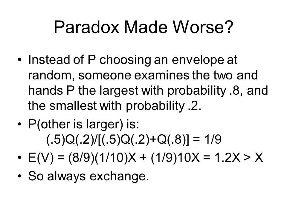 Paradox Made Worse.