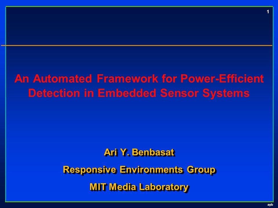 ayb 1 Ari Y. Benbasat Responsive Environments Group MIT Media Laboratory Ari Y.
