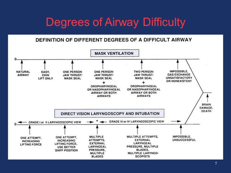 Degrees of Airway Difficulty 5