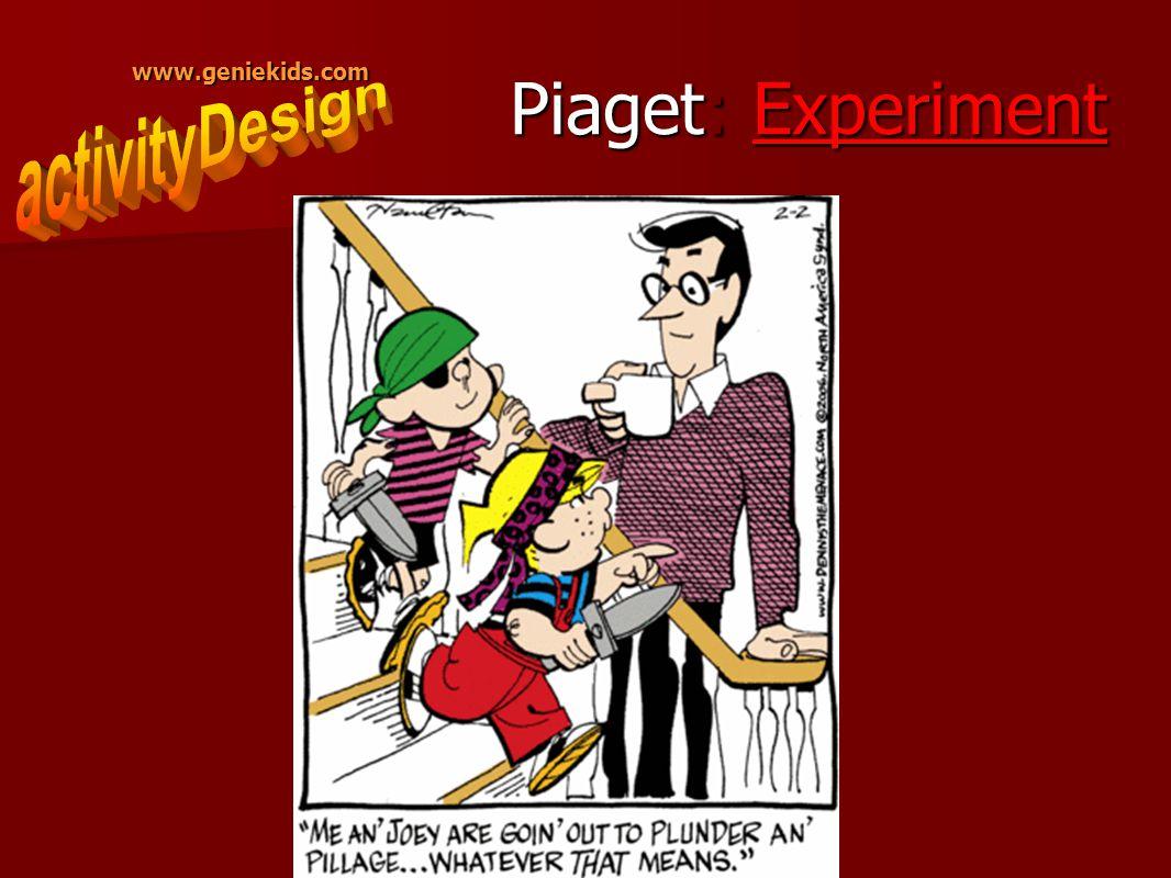 www.geniekids.com Piaget: Experiment