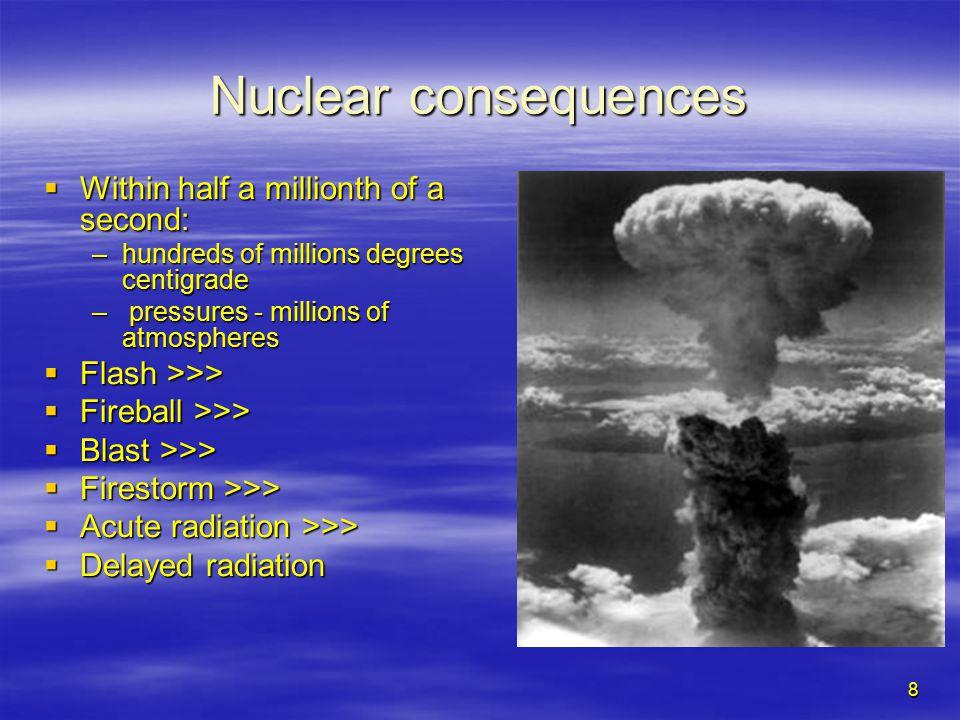 9 6 August 1945 Hiroshima 15 kiloton bomb 15 kiloton bomb  Immediate deaths – 140,000  Total deaths: Hiroshima bomb 6 August 2004: 237,000  270,000 hibakusha still living in Japan (Mayor Akiba)