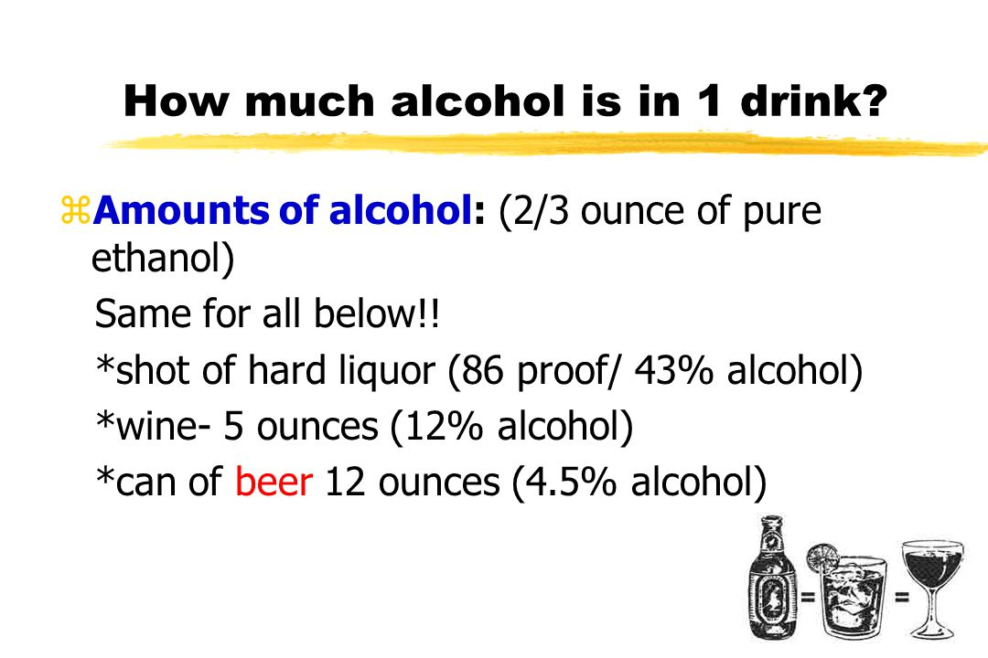 How much alcohol is in 1 drink.